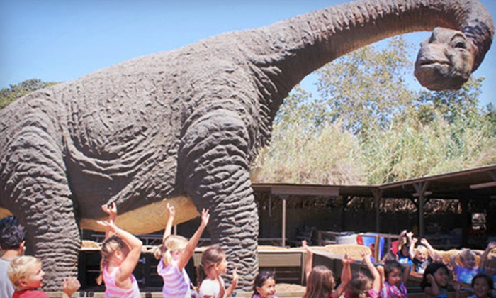 Zoomars - San Juan Capistrano: $20 for Petting-Zoo Visit for Four with Two Train Rides and Dino-Fossil or Gemstone Digs at Zoomars (Up to $54 Value)