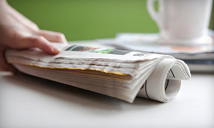 "Toronto Sun - Toronto (GTA): 12-Month Daily or Sunday ""Toronto Sun"" Subscription (Up to Half Off)"