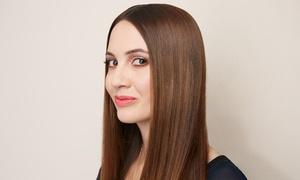 D-Vine Salon and Spa: Keratin Straightening Treatment or Haircut and Single-Process Color at D-Vine Salon and Spa (Up to 58% Off)