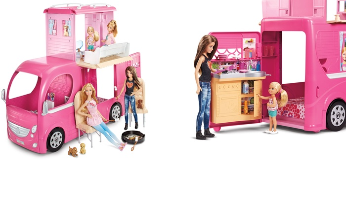 Barbie Pop Up Camper Toy Groupon Goods