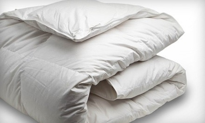 Canadian Down & Feather Company - Downtown Toronto: White Goose-Feather Duvet for a Twin, Double, Queen-, or King-Size Bed from Canadian Down & Feather Company (Up to 51% Off)