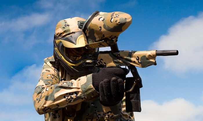 $23 for Paintball Package with All-Day Field Pass and Equipment at Maximum Paintball ($38 Value)