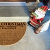 Personalized Christmas Door Mat from American Laser Crafts