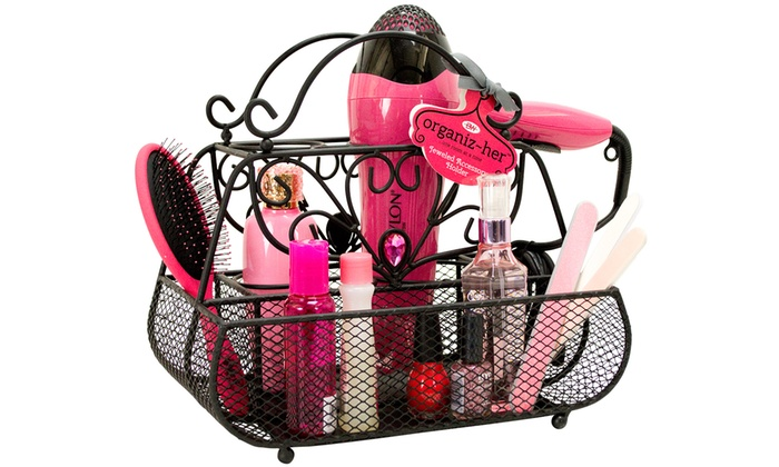 Hair Styling Caddy Jeweled Hair Styling Caddy  Groupon Goods