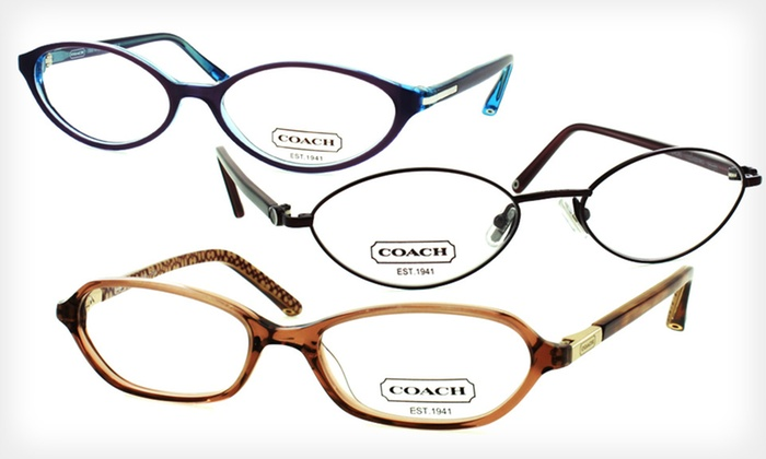 Women's Coach Eyeglass Frames: One Pair of Women's Coach Optical-Quality Eyeglass Frames (Up to 80% Off). 14 Options Available. Free Shipping.