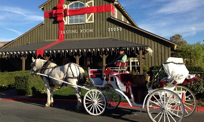 The Temecula Carriage Company - The Temecula Carriage Company: $45 for a One-Horse Open Sleigh Ride for Up to Four from The Temecula Carriage Company ($110 Value)