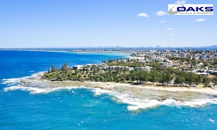 Sunshine Coast: Two or ThreeNight Beachside Getaway for Up to Six People with Late CheckOut at Oaks Seaforth Resort