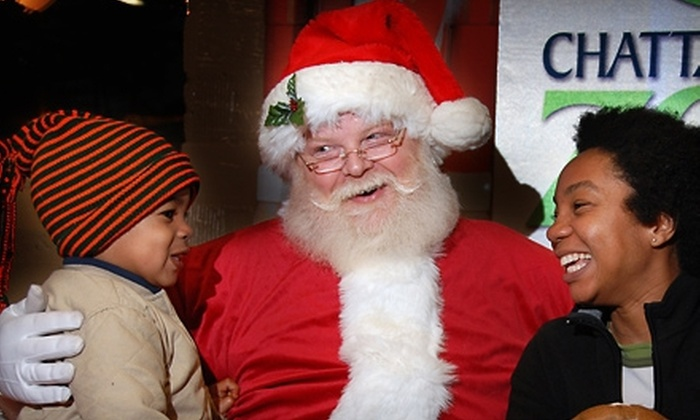 Chattanooga Zoo - Chattanooga: $15 for Holiday Lights Admission for Two Adults and Two Kids at Chattanooga Zoo (Up to $29.80 Value)