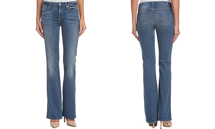 7 For All Mankind Karah Bootcut Jeans (Size 26) | Groupon