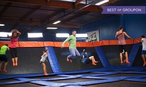 39% Off 60-Minute Indoor Trampoline Passes for Two at Sky Zone - North Spring, plus 6.0% Cash Back from Ebates.