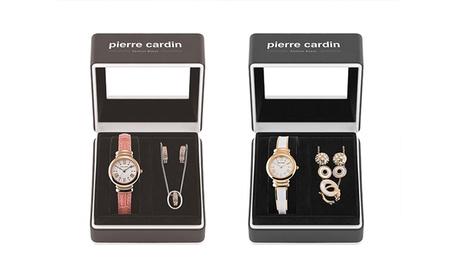 Set de reloj, collar y pendientes para mujer Pierre Cardin
