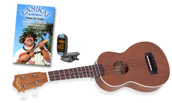 Lanikai Soprano Ukulele with Tuner and Chord Guide: Lanikai Soprano Ukulele with ChromaCast Tuner and Chord Guide. Free Shipping and Returns.