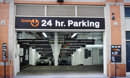 $34 for a 24-Hour Parking Pass Valid at Any Location at Icon Parking (Up to $70 Value)