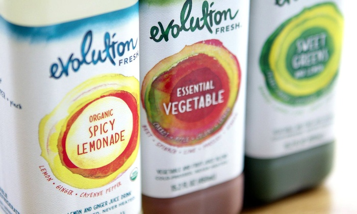Evolution Fresh  - Pacific Heights: Evolution Fresh Punch Card for Five Meal Combos (Entree and Smoothie or Juice) or a Three-Day Juice Ritual