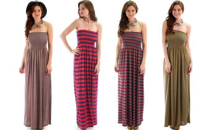 Plus Size Strapless Maxi Dresses | Groupon Goods