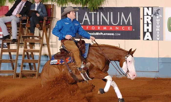 NRHA Reining Horse Futurity - Central Oklahoma City: National Reining Horse Association Competition at Jim Norick Arena on December 5–7 (Up to 52% Off)
