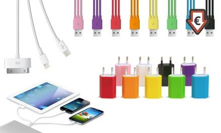 1 ou 2 câbles de chargement 3 en 1 avec adaptateur en option, coloris au choix dès 2,99€ (jusqu'à 92% de réduction)