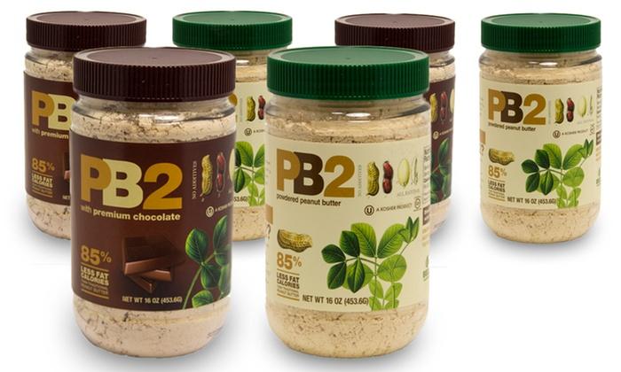 PB2 Powdered Peanut Butter; 6-Pack of 1lb. Jars