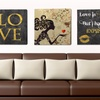 """18""""x18"""" Gold-Accent Statement Art on Gallery-Wrapped Canvas"""