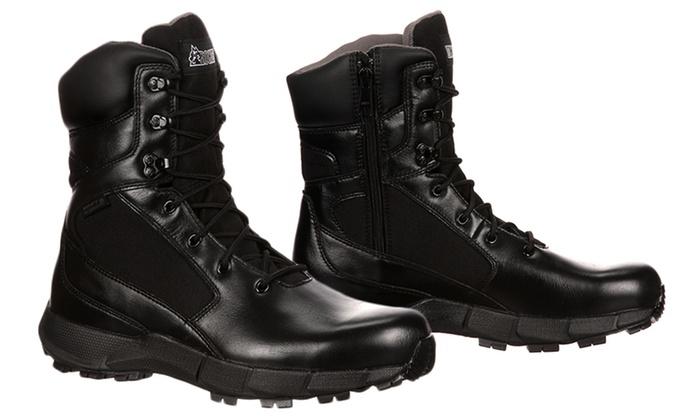 f47824fff59 Men's Waterproof Duty Boots with Side Zipper (Sizes 11 & 13)