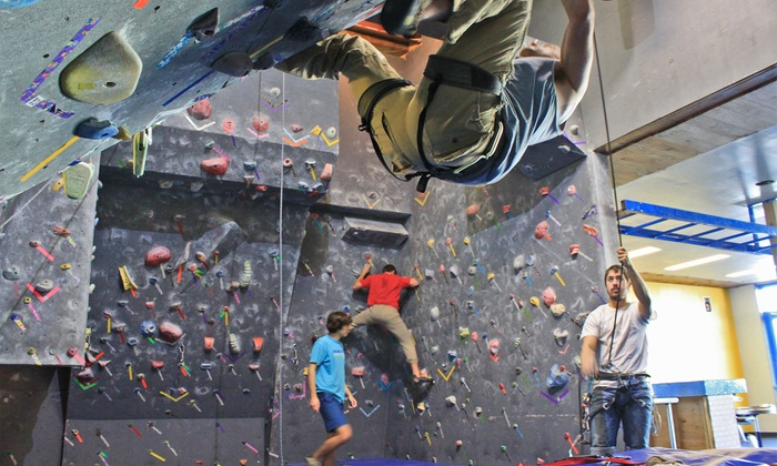 The District - Pearl Brewery: Indoor Climbing Classes or Unlimited Fitness Classes at The District (Up to 56% Off). Four Options Available.