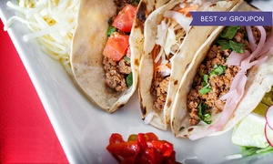 Mezcal Tequila Cantina: Mexican Dinner, or Four Groupons, Each Good for an All-You-Can-Eat Taco Lunch at Mezcal Cantina (Up to 55% Off)