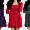 Hacci Knit Babydoll Dress with Empire Waist