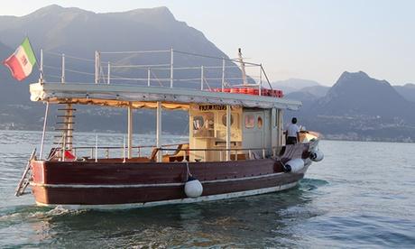 Tour all'isola del Garda fino a 6 persone con aperitivo al tramonto su barca d'epoca