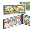 Happy Birthday Colorized Genuine U.S. $2 Bill with Folio