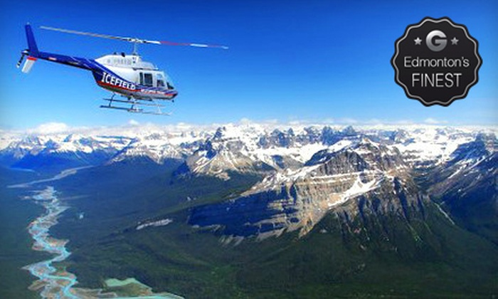 Icefield Helicopter Tours - Clearwater County: Helicopter Tour and Wilderness Stop for One, Two, or Four from Icefield Helicopter Tours (Up to 54% Off)