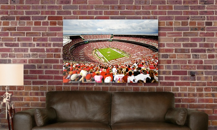College-Football-Stadium Gallery-Wrapped Canvas Print: $69.99 for a College-Football-Stadium Gallery Wrap ($229 List Price). Multiple Stadiums. Free Shipping and Returns.