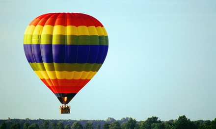 $129 for a Hot Air Balloon Ride for One with Sparkling-Cider Toast from Valley Ballooning ($220 Value)