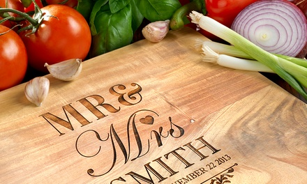 Personalised Acacia Wood Cutting Board: Small (£10), Medium (£15) or Large (£25) (Up to 85% Off)