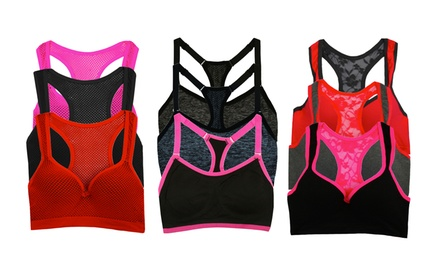 Women's Shaping and Support Sports Bras (3-Pack)