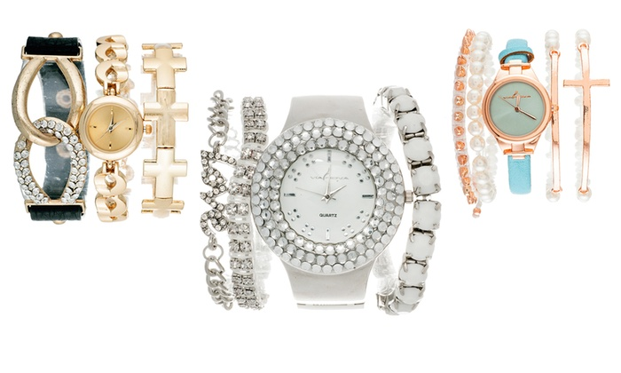 Arm Candy Women S Watch And Bracelet Sets