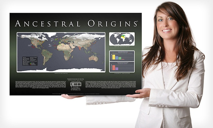 Ancestral Origins DNA Ancestry Map: $99 for a DNA Ancestry Map from The Genetic Testing Laboratories, Inc. with Shipping Included ($198 Total Value)