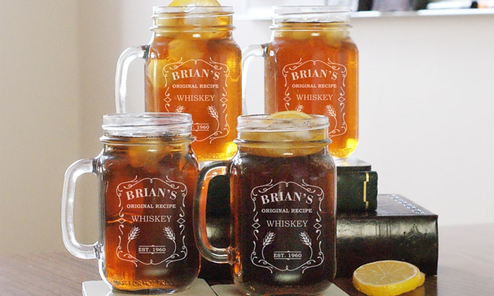 GiftsForYouNow.com: $24.99 for One Engraved Mason-Jar Set from GiftsForYouNow.com ($49.98)