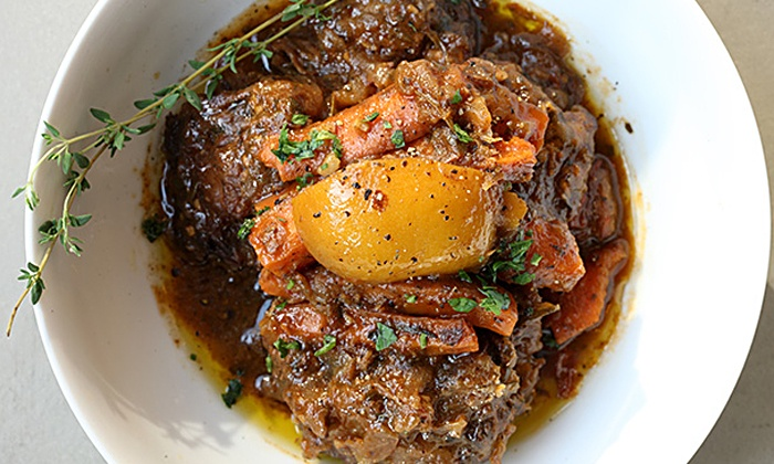 Rustic L.E.S. - New York: Family-Style Moroccan Dinner with Wine for Two or Four at Rustic L.E.S. (Up to 46% Off)