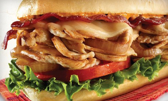 Charley's Grilled Subs - Multiple Locations: Grilled Subs, Fries, and Drinks at Charley's Grilled Subs (Half Off). Two Options Available.