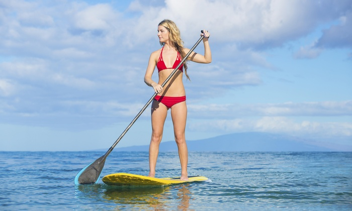 Tide SUP Yoga - Oxnard: Five Paddleboard Lessons from Tide SUP Yoga (50% Off)