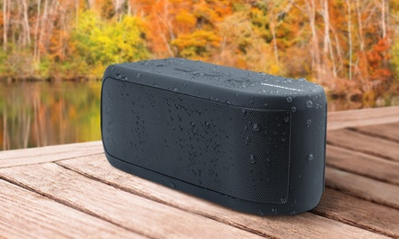 Merkury Innovations Live Water-Resistant Outdoor Bluetooth Speaker with Mic