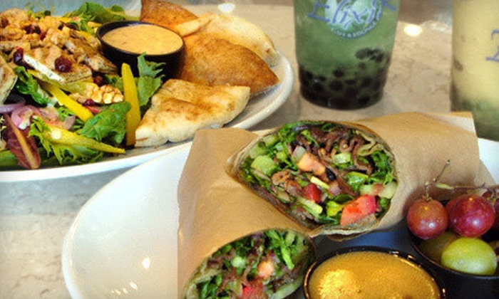 Elixir Organic Cafe - Silverado Ranch: Healthy and Vegetarian-Friendly Catered Fare from Elixir Organic Cafe (Half Off). Three Options Available.
