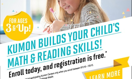 Up to 58% Off Academic Tutoring at Kumon