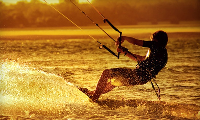 Cosmic Kites Kiteboarding - Long Island: Kiteboarding Lessons for One or Two with Land or Land and Water Instruction from Cosmic Kites Kiteboarding (Up to 59% Off)