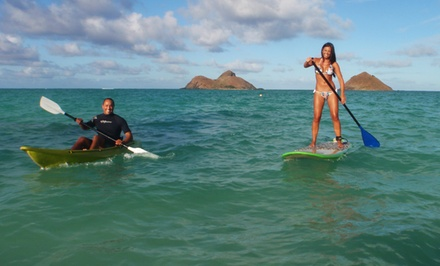 Full-Day Kayak or Standup-Paddleboard Rental for One or Two from Hawaiian WaterSports (Up to 59% Off)
