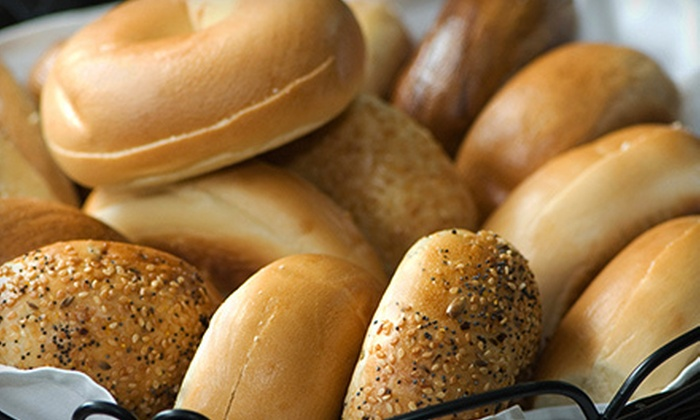 Bagels in the Boro - Rockaway: Sandwich-and-Smoothie Lunch for Two or 13 Bagels, Cream Cheese, and Box of Coffee at Bagels in the Boro (Up to 58% Off)