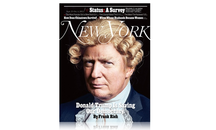 "New York Magazine: 1- or 2-Year Print and iPad Subscription to ""New York"" Magazine (Up to 53% Off)"