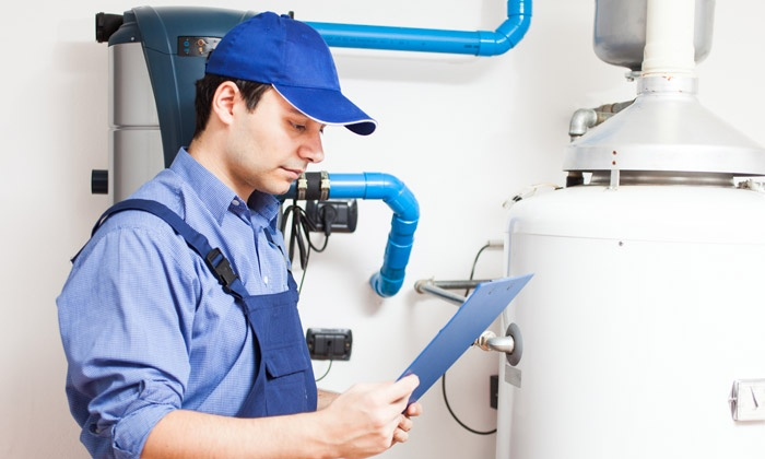 AirTech Heating & Cooling - Minneapolis / St Paul: Water Heater Tune Up and Flush or Humidifier Rejuvenation from AirTech Heating & Cooling (Up to 61% Off)