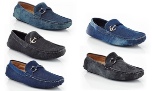 Closeout: Solo Men's Slip-On Casual Denim Loafers