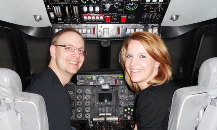 Fly-A-Sim - DFW Airport: Flight Simulation for One, Two, or Four at Fly-A-Sim (Up to 52% Off)